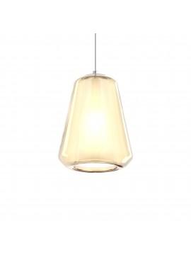 Modern amber pendant chandelier for kitchen bathroom 1 light tpl 0910