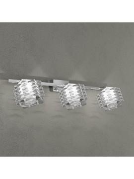 Applique 3 luci cromato cubo cristallo tpl 1126-f3