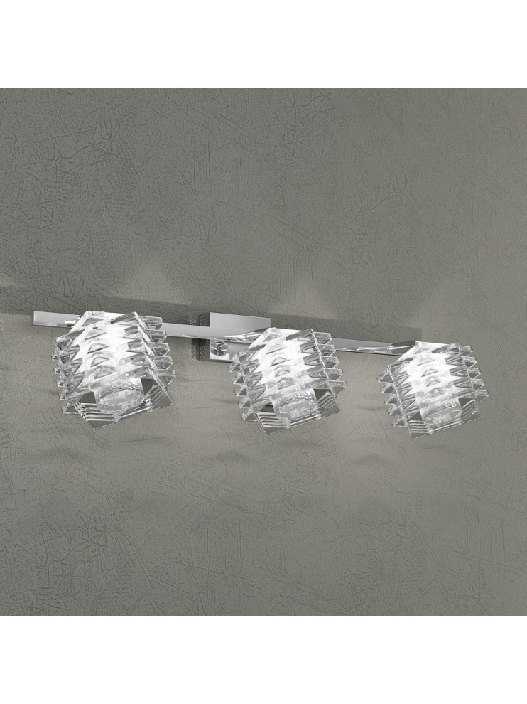 Applique 3 lights chrome plated crystal tpl 1126-f3