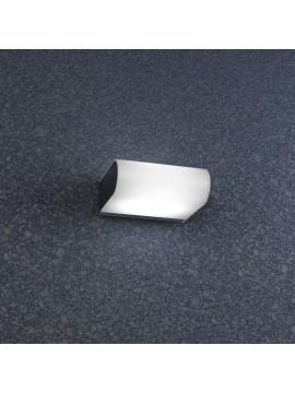 Applique cromato 1 luce con vetro bianco tpl 1107-ap
