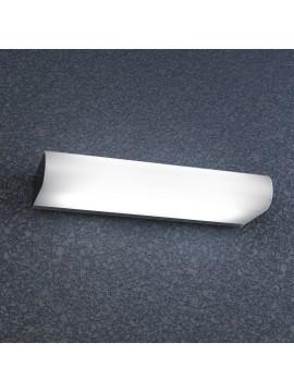 Applique cromato 2 luci con vetro bianco tpl 1107-am