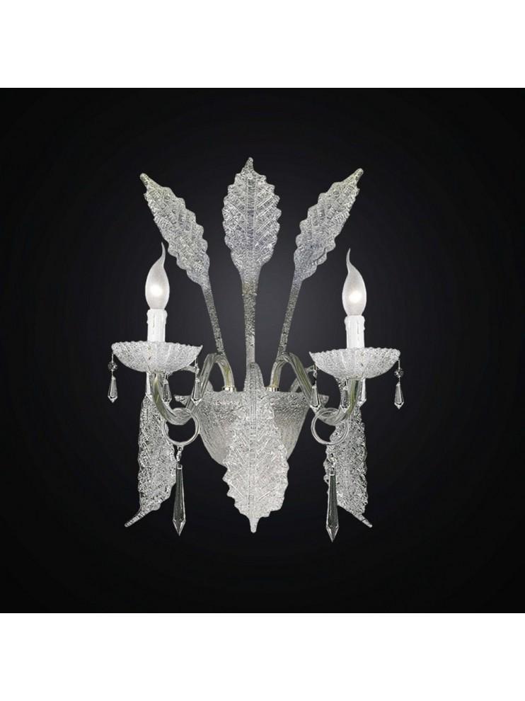 Applique in cristallo e graniglia Design Swarovsky a 2 luci BGA 732