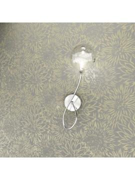 Applique 1 luce cromato con vetro trasparente tpl 1109-a1dx