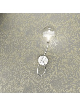 Wall light 1 light chrome with transparent glass tpl 1109-a1dx