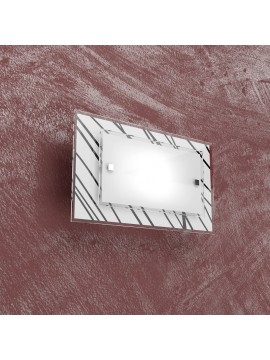 1 light modern wall light with white and black glass tpl 1124-ap
