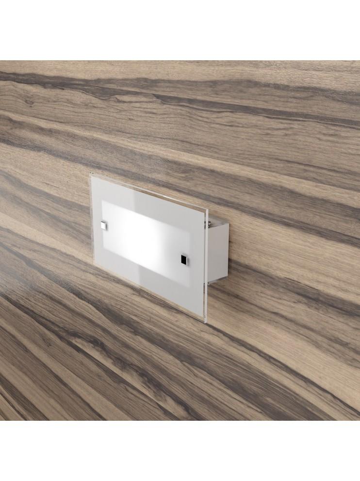 1 light modern wall light with white glass tpl 1122-ap