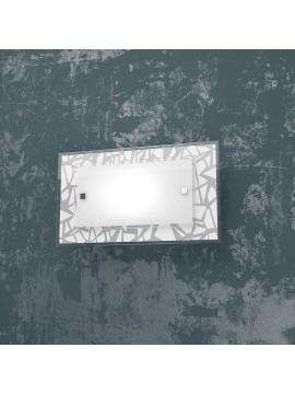 Applique cromato 1 luce in vetro serigrafato tpl 1123-ap