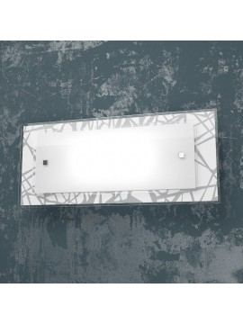 2 lights modern wall lamp with white and black glass tpl 1124-ag