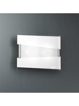 Modern wall lamp 2 lights white glass tpl 1074-a40bi