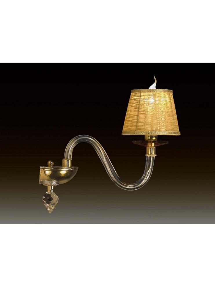 Applique in cristallo trasparente e ambra1 luce Design Swarovsky BGA 1660