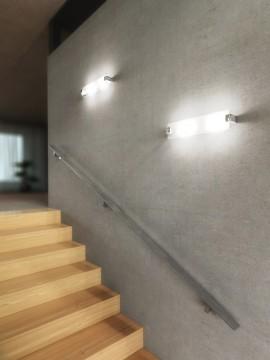 Modern frosted glass wall light 2 lights tpl 1073-ag