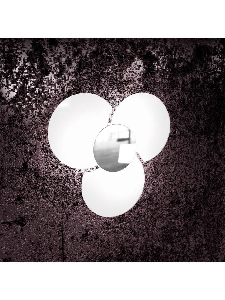 Applique moderno in vetro bianco 3 luci tpl 1114/45-cr