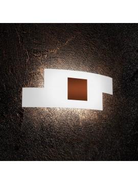 Applique moderno in vetro 2 luci tpl 1121/ap-co