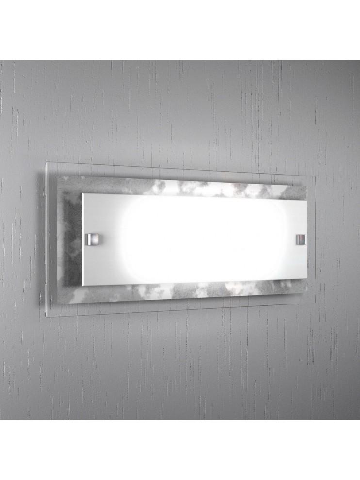 Wall lamp modern silver leaf glass 2 lights tpl 1087-agfa