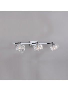 Applique moderno con vetro cubo 3 luci tpl 1047-f3