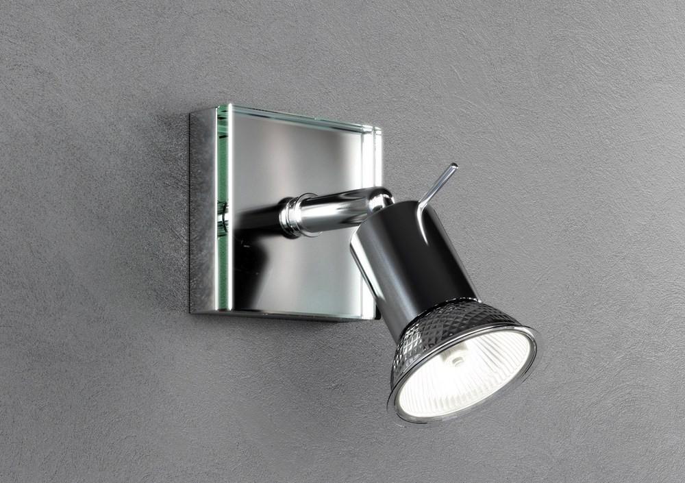 Applique spot moderno 1 luce con vetro tpl 1096 f1
