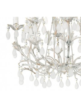 8 lights wrought iron classic chandelier with Cascina pendants