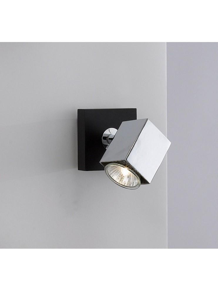 Applique spot moderno legno wengè 1 luce tpl 1020-f1
