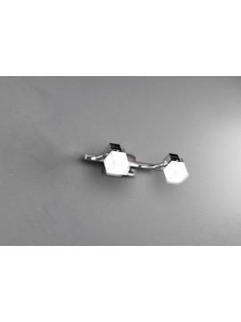 Applique spot moderno 2 luci cromato tpl 1095-f2