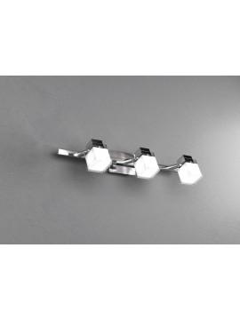 Applique spot moderno 3 luci cromato tpl 1095-f3