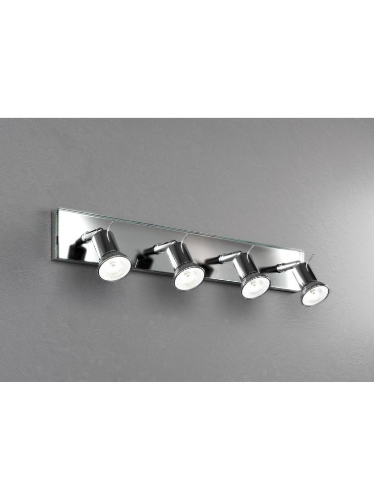 Modern spot light with 4 light tpl glass 1096-f4
