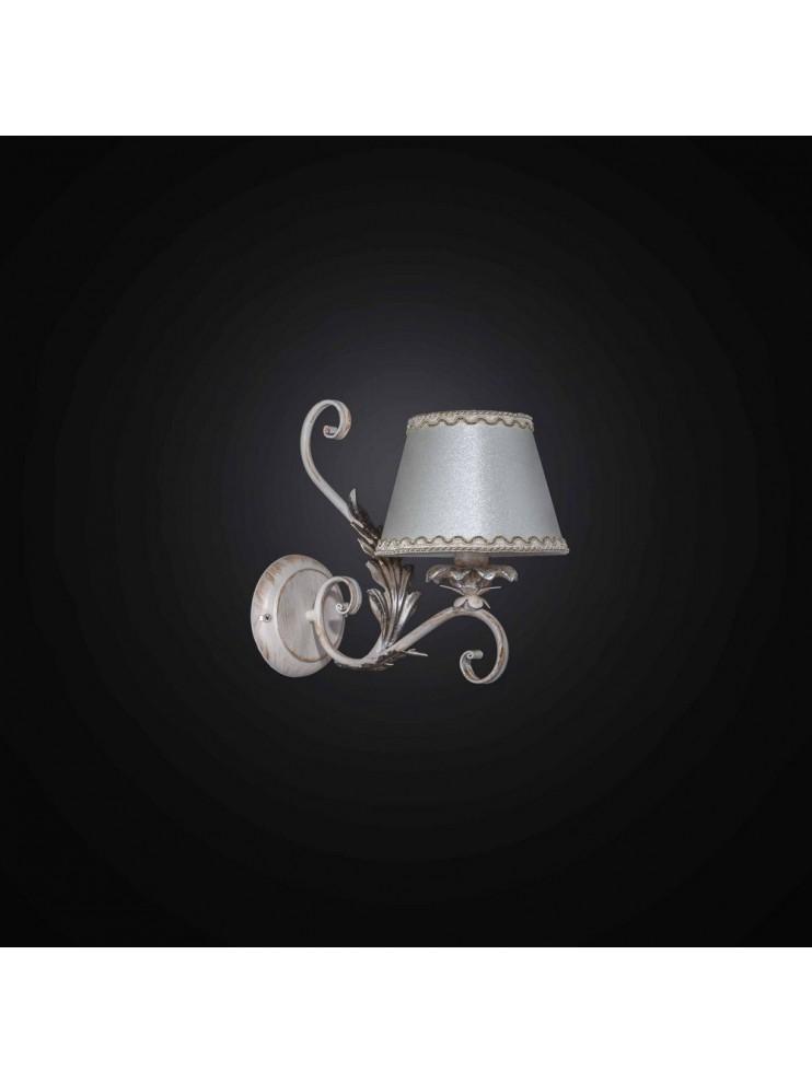 Applique in ferro battuto avorio e oro 1 luce BGA 2731-A1