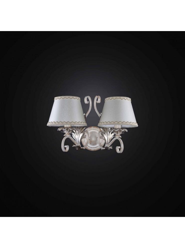 Applique in ferro battuto avorio e oro 2 luci BGA 2731-A2