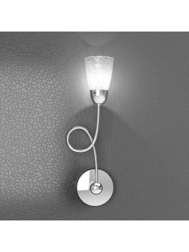 1 light modern wall light with tpl glass 1011-a1ht