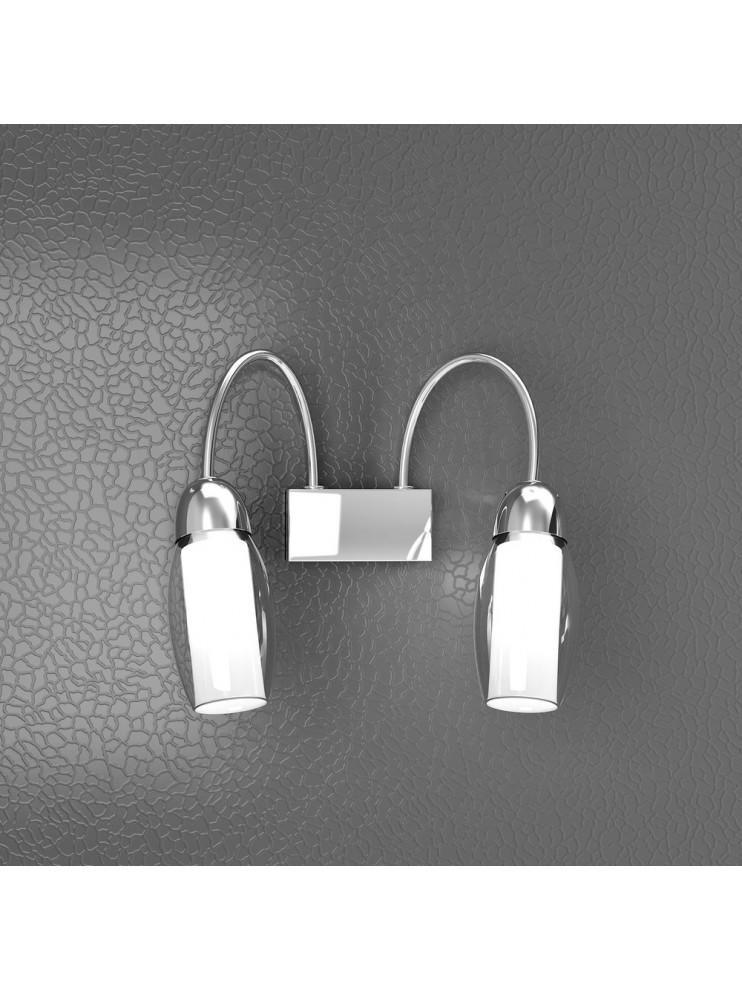 Applique moderno 2 luci con vetri satinati tpl 1011-a2a
