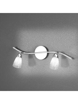 Applique spot moderno 2 luci con vetri tpl 1011-f2ht