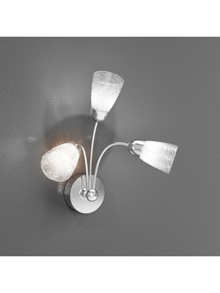 3 lights modern wall light with tpl glasses 1011-a3ht