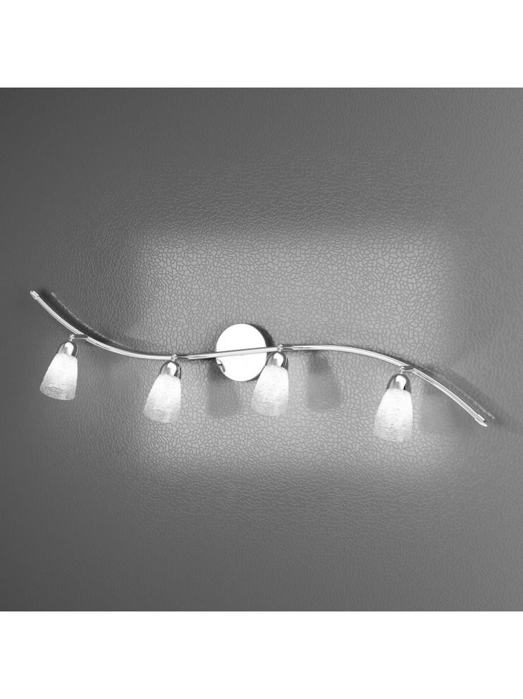 Applique spot moderno 4 luci con vetri tpl 1011-f4ht