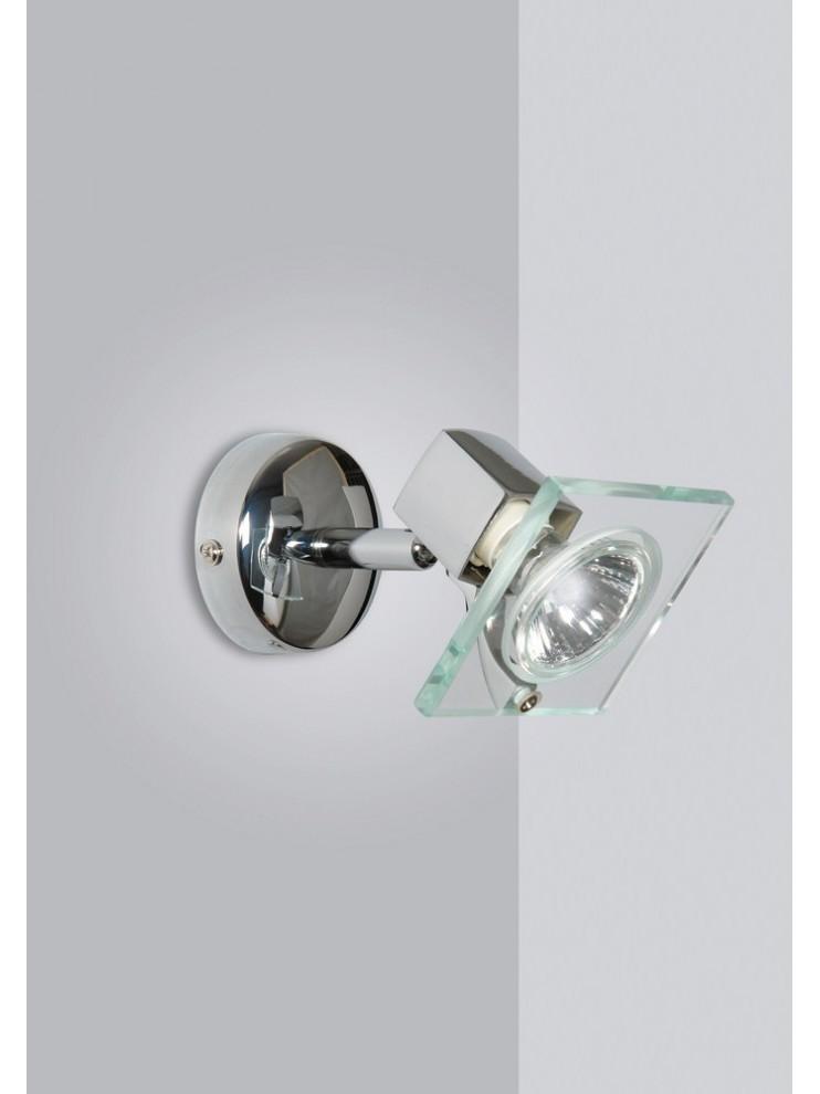 Applique spot moderno 1 luce con vetro tpl 1031-f1