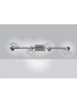 Applique spot moderno 4 luci con vetro tpl 1031-f4