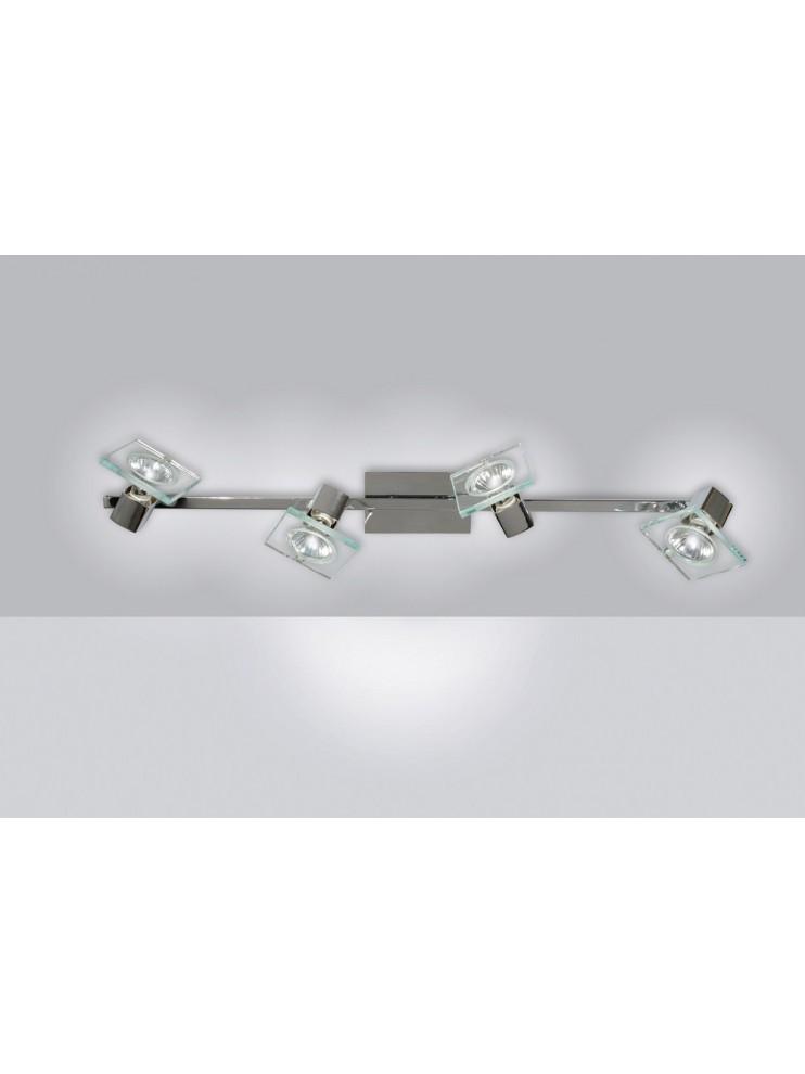 Modern 4 lights spotlight with 1031-f4 tpl glass