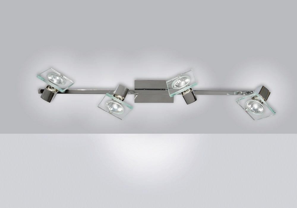 Applique spot moderno 4 luci con vetro tpl 1031 f4
