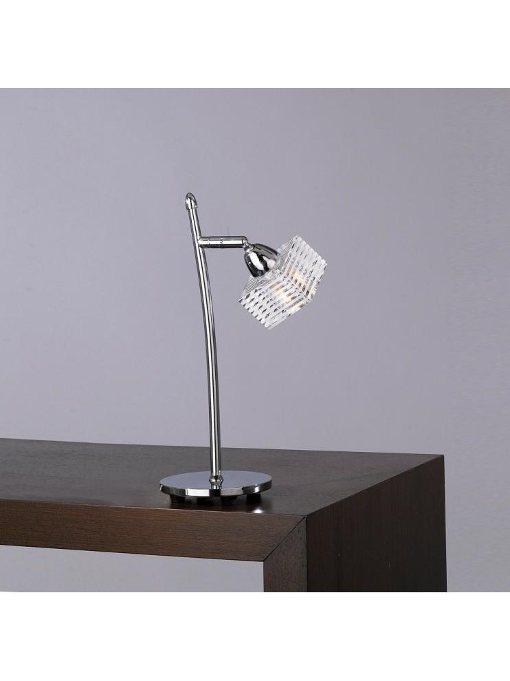 Lumetto moderno vetro cubo 1 luce tpl 1047-p-g