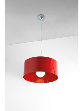 Lampadario moderno 1 luce rosso tpl 1067-sro