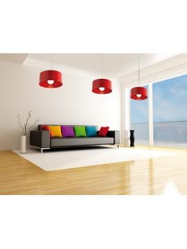 Modern chandelier 1 light red tpl 1067-sro