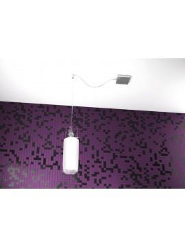 Modern chandelier 1 light white tpl 1078-s1s