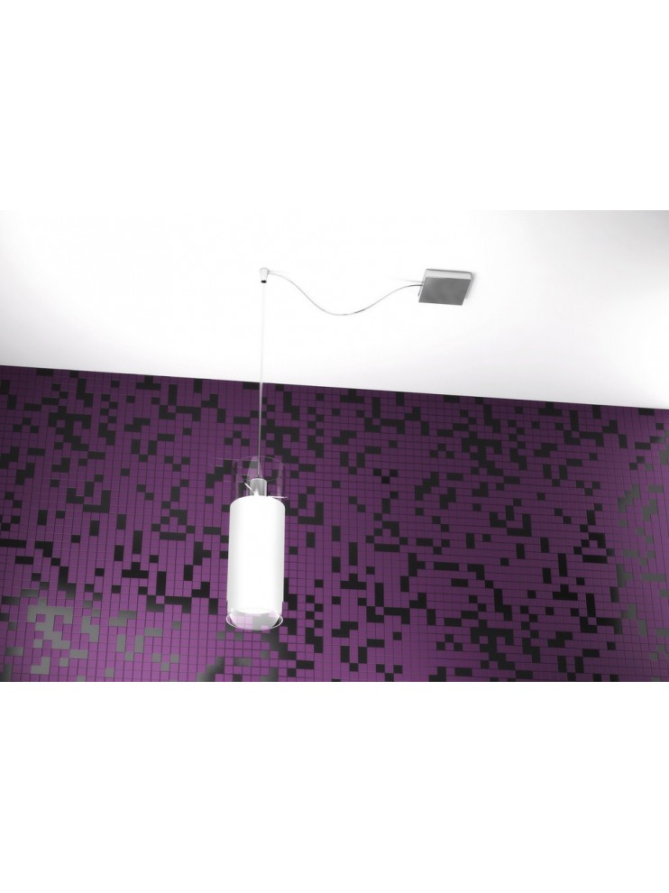 Lampadario moderno 1 luce bianco tpl 1078-s1s
