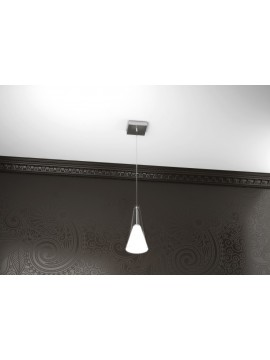 Modern chandelier 1 light white tpl 1097-s1