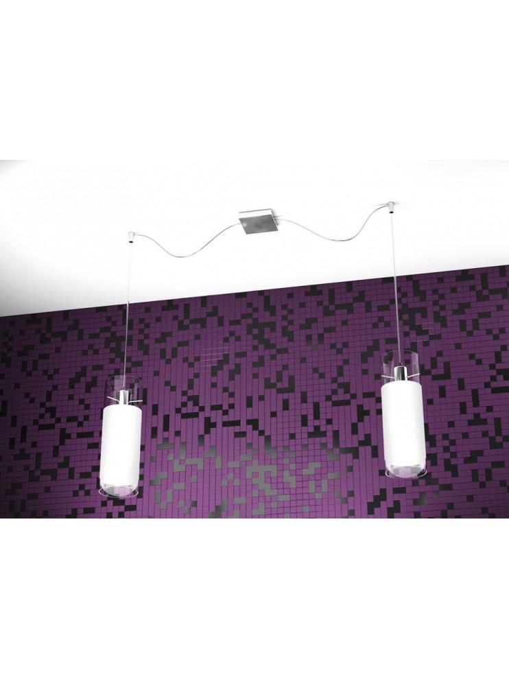Modern chandelier 2 lights white tpl 1078-s2s