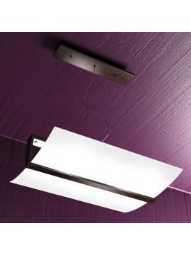 Lampadario moderno legno wengè 2 luci tpl 1019-s50w