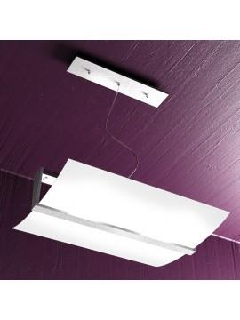 Lampadario moderno 2 luci foglia argento tpl 1019-s50fa