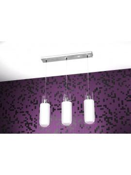 Modern chandelier 3 lights white tpl 1078-s3