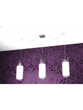Lampadario moderno 3 luci bianco tpl 1078-s3s
