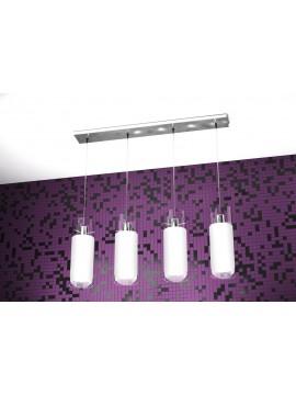 Modern chandelier 4 lights white tpl 1078-s4