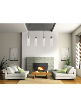 Modern chandelier 4 lights white tpl 1078-s4