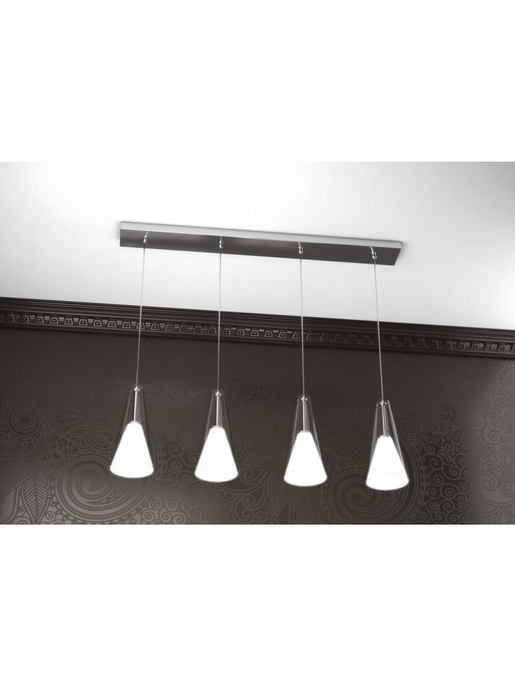 Lampadario moderno 4 luci design tpl 1097-s4